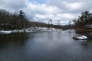 Pandapas Pond after a winter snow. Nice easy hike in the fresh air. Stay at Inn at Riverbend