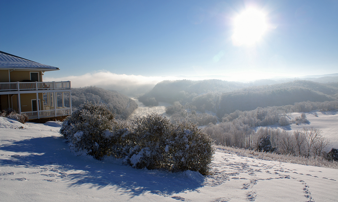 Winter images from the Inn at Riverbend in the Appalachian Mountains of Southwest Virginia