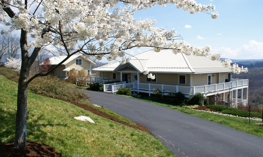 Spring, the New River, Appalachian Mountains and Inn at Riverbend. What a combination for a great staycation!