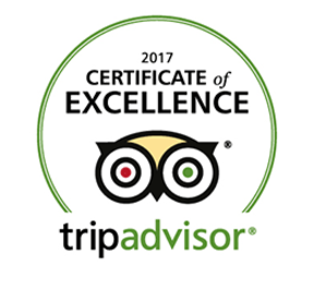 Trip Advisor Certificate of Excellence 2017 Winner