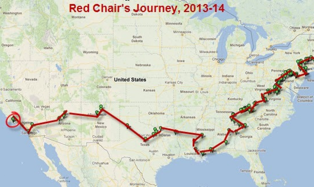 The Red Chair Travels, Coming soon to an inn in Pearisburg, VA